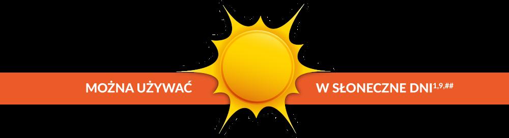 Można używać w słoneczne dni