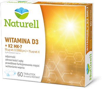 Naturell Witamina D3 + K2 MK-7