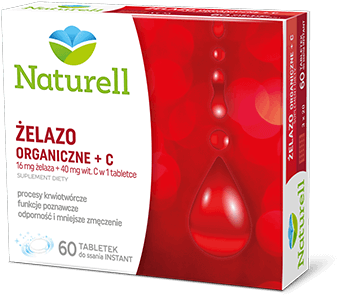 Naturell Żelazo Organiczne + C